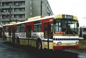 Articulated trolleybus of the Austrian type ÖAF Gräf & Stift GE 110