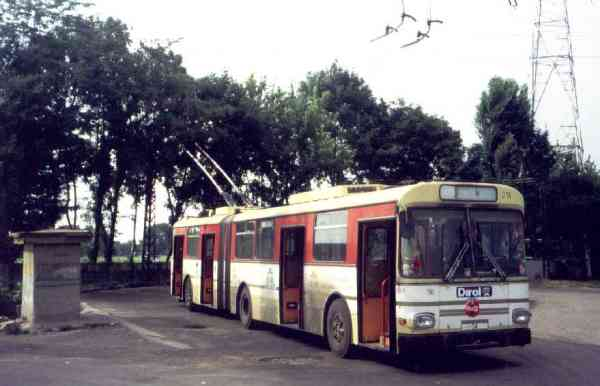 Former Eberswalde articulated trolleybus no. 016 (Timisoara 34) of the Austrian type ÖAF Gräf & Stift GE 110 M16 in Timisoara/RO