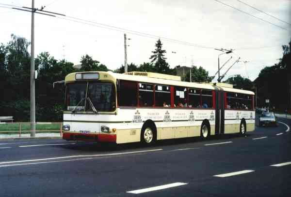 Articulated trolleybus no. 019 of the Austrian type ÖAF Gräf & Stift GE 110 M16 (scrapped)