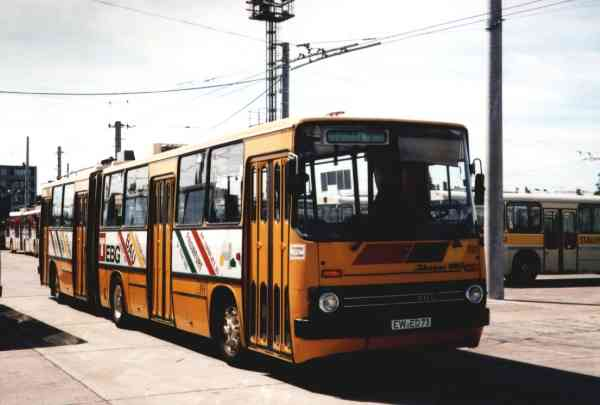 Articulated trolleybus of the Hungarian type Ikarus 280.93