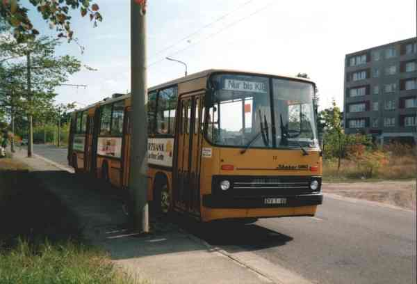 Articulated trolleybus no. 012 of the Hungarian type Ikarus 280.93 (scrapped)