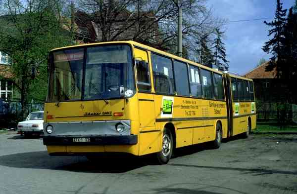 Articulated trolleybus no. 013 of the Hungarian type Ikarus 280.93 (scrapped)
