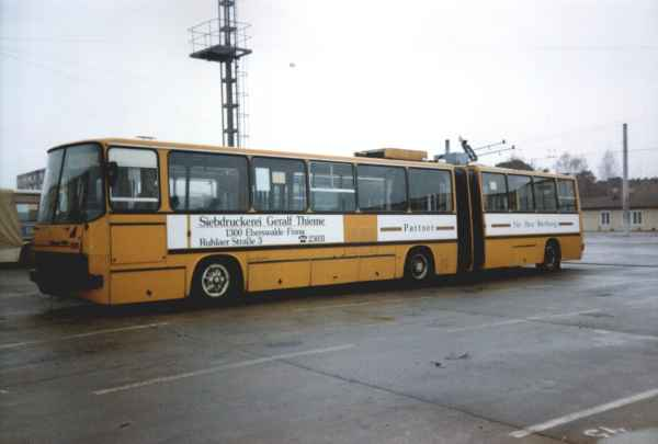 Articulated trolleybus no. 19(III) of the Hungarian type Ikarus 280.93 (scrapped)