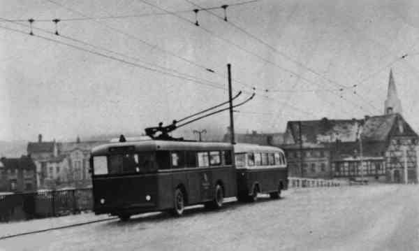 Trolleybus of the German type KEO I (war unit trolleybus standard size 1)