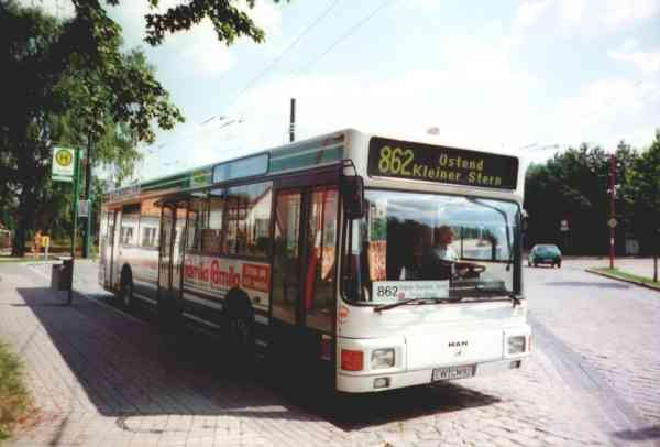 Trolleybus traffic replaced by buses with Diesel engine