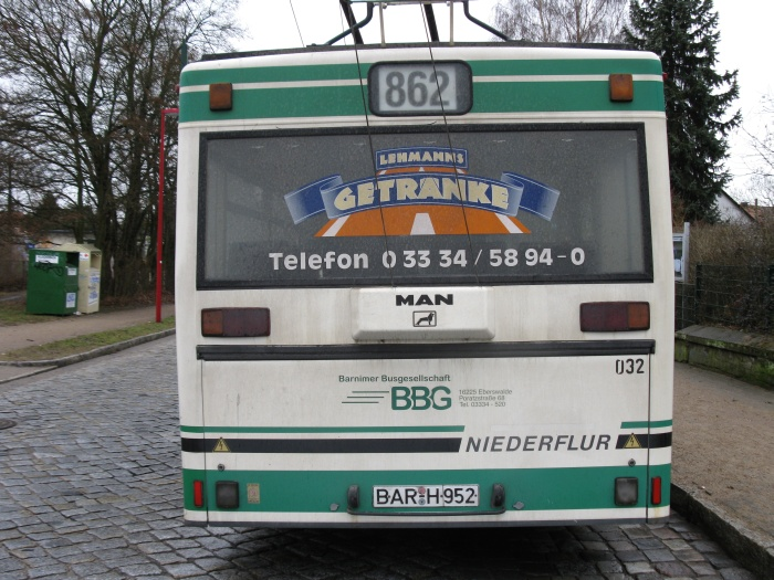 Articulated trolleybus no. 032 of the Austrian type ÖAF Gräf & Stift NGE 152 M17