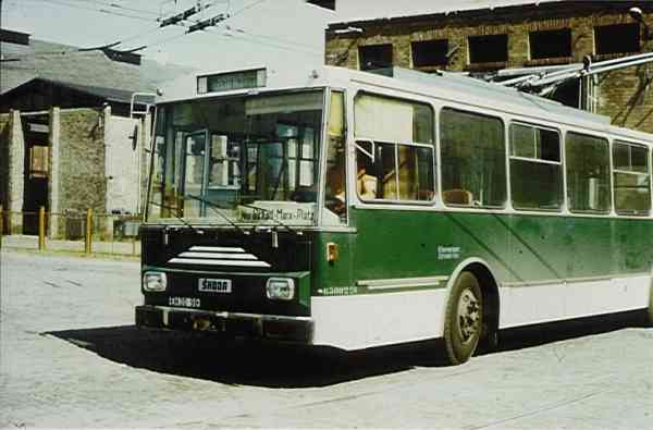 Trolleybus of the Czech type ŠKODA 14 Tr03
