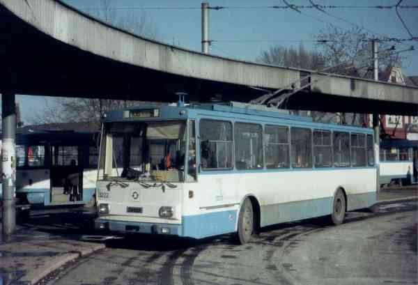 Former Eberswalde trolleybus no. 03(IV) (Ostrava 3222) of the Czech type SKODA 14 Tr03 in Ostrava/CZ