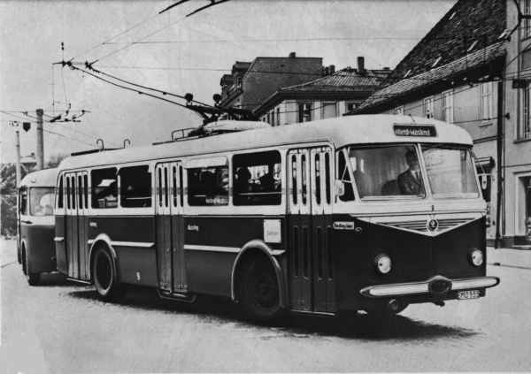Trolleybus no. 09(III) of the Czech type ŠKODA 8 Tr6 (out of service)