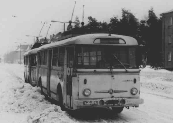 Trolleybus no. 16(I) of the Czech type ŠKODA 9 Tr13 (scrapped)