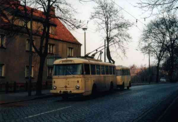 Trolleybus no. 30/I later 18/II of the Czech type ŠKODA 9 Tr13 (scrapped)