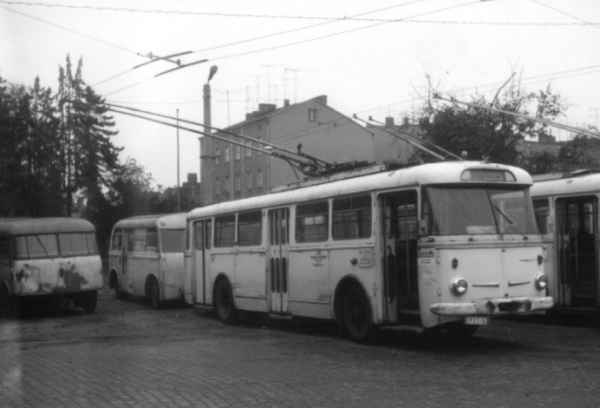 Trolleybus no. 32(I) of the Czech type ŠKODA 9 Tr13 (scrapped)