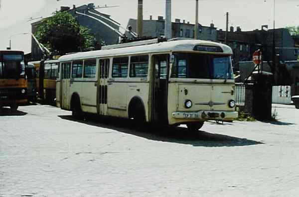 Trolleybus of the Czech type ŠKODA 9 Tr