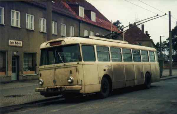 Trolleybus no. 31/I later no. 19/II of the Czech type ŠKODA 9Tr14 (scrapped)