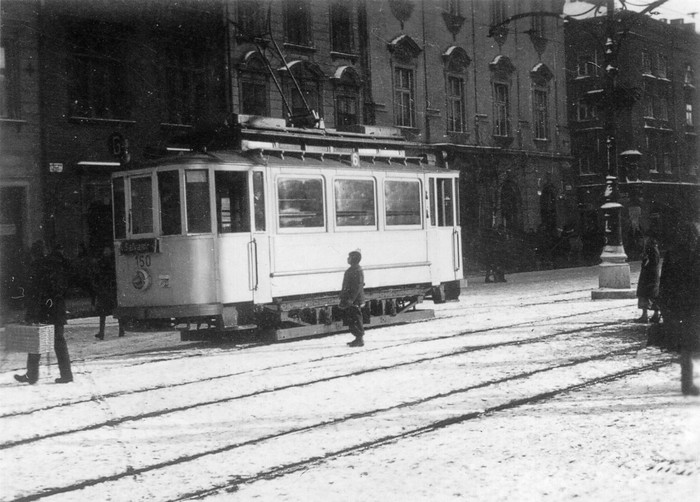 Eberswalde tramcar no. 1 with the car no. 150 in use in Kraków/Pl in the year 1941