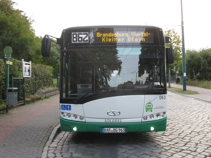 Articulated trolleybus no. 063 of the Polish type Solaris Trollino 18 AC